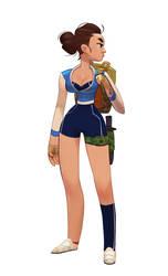 Blue Girl by MaxGrecke
