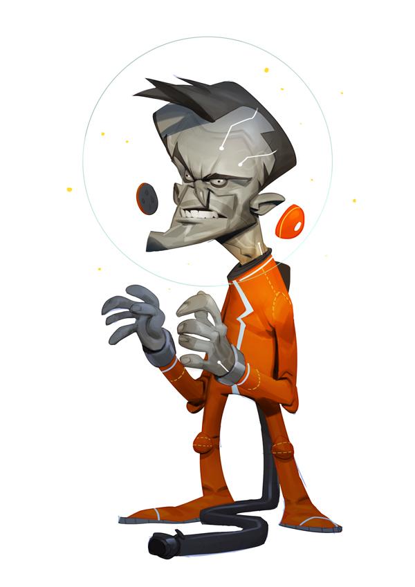 Space dude by MaxGrecke