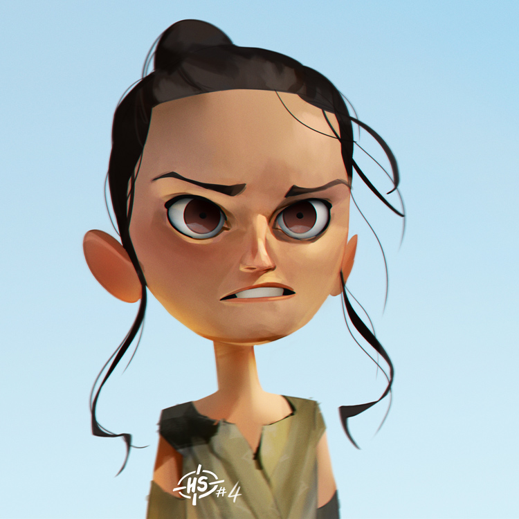 Headshot #4 Rey by MaxGrecke
