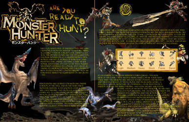 Monster Hunter Magazine Pages by NinjaUrochi
