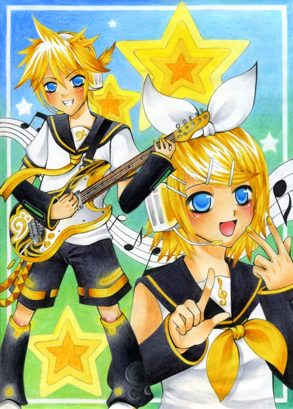 Kagamine Twins by Hachiyo