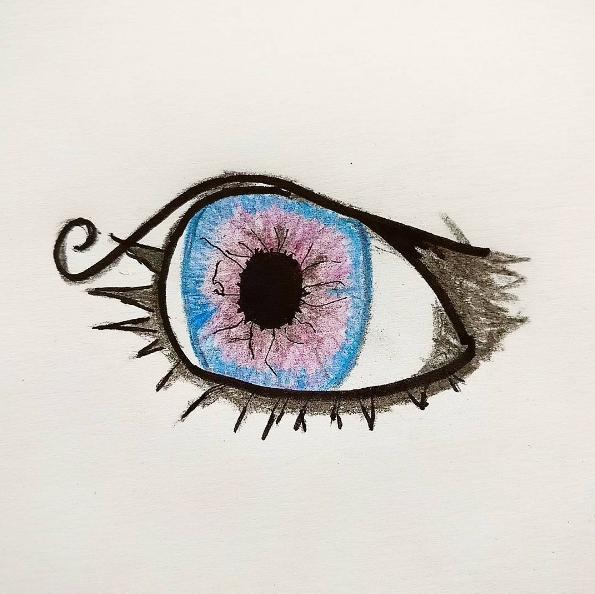 Purple eye by AlexMarcoMcFly