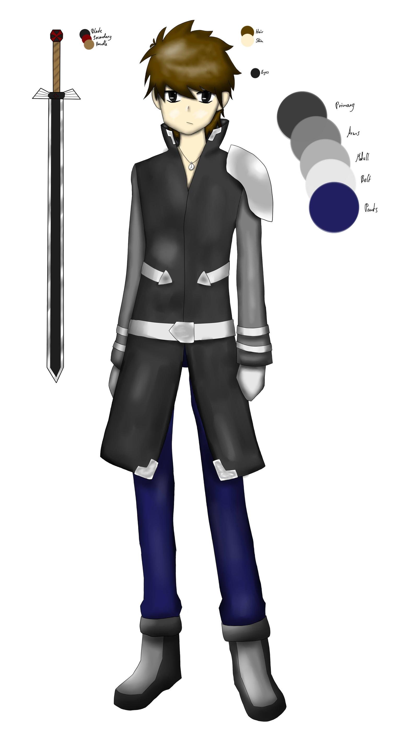 Black Sword Art Online Oc By The Wolf Shadow On Deviantart