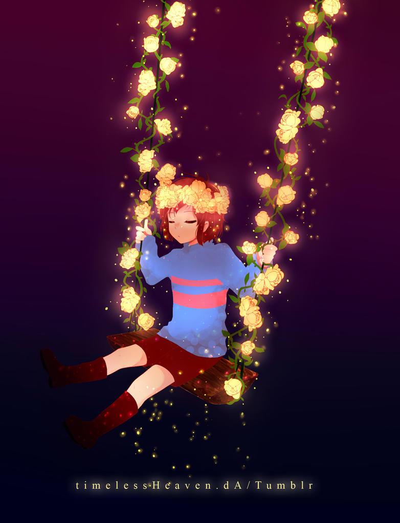 Swing of golden flowers Night Ver.- Undertale by TimelessHeaven