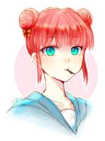 Kagura-chan Doodle by TimelessHeaven