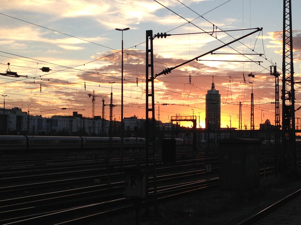 Sunset at munich by mauseminchen