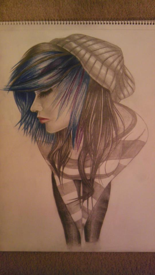 Emo scene Girl by BlueAero