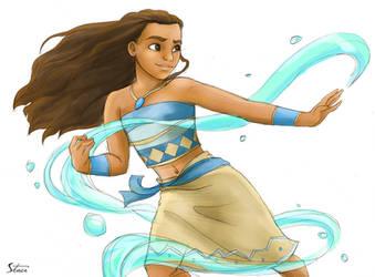Moana the Waterbender by RiverCreek