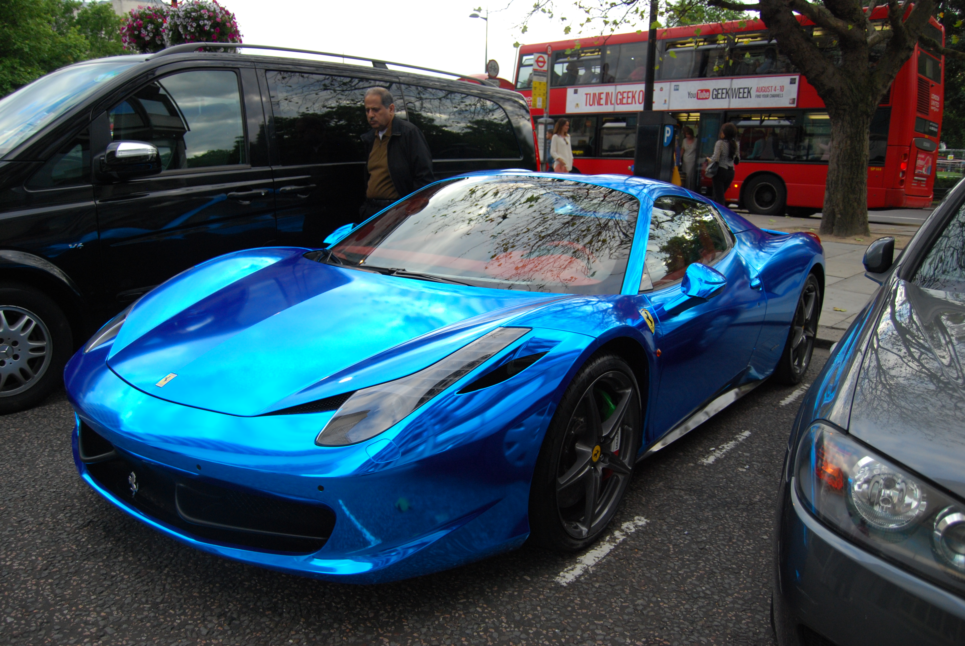 chrome blue ferrari 458sirhubris on deviantart