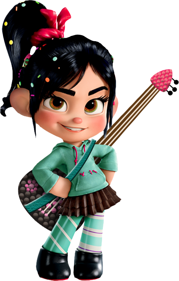 Vanellope And Her Guitar By Xelku9 On Deviantart