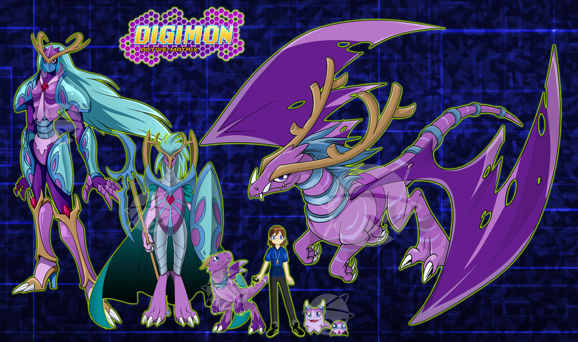 Digimon OC :Luzi and the Purple Dragon: by Xelku9