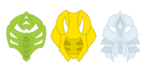 Non-Mutated Mistika Makuta Masks by Xelku9