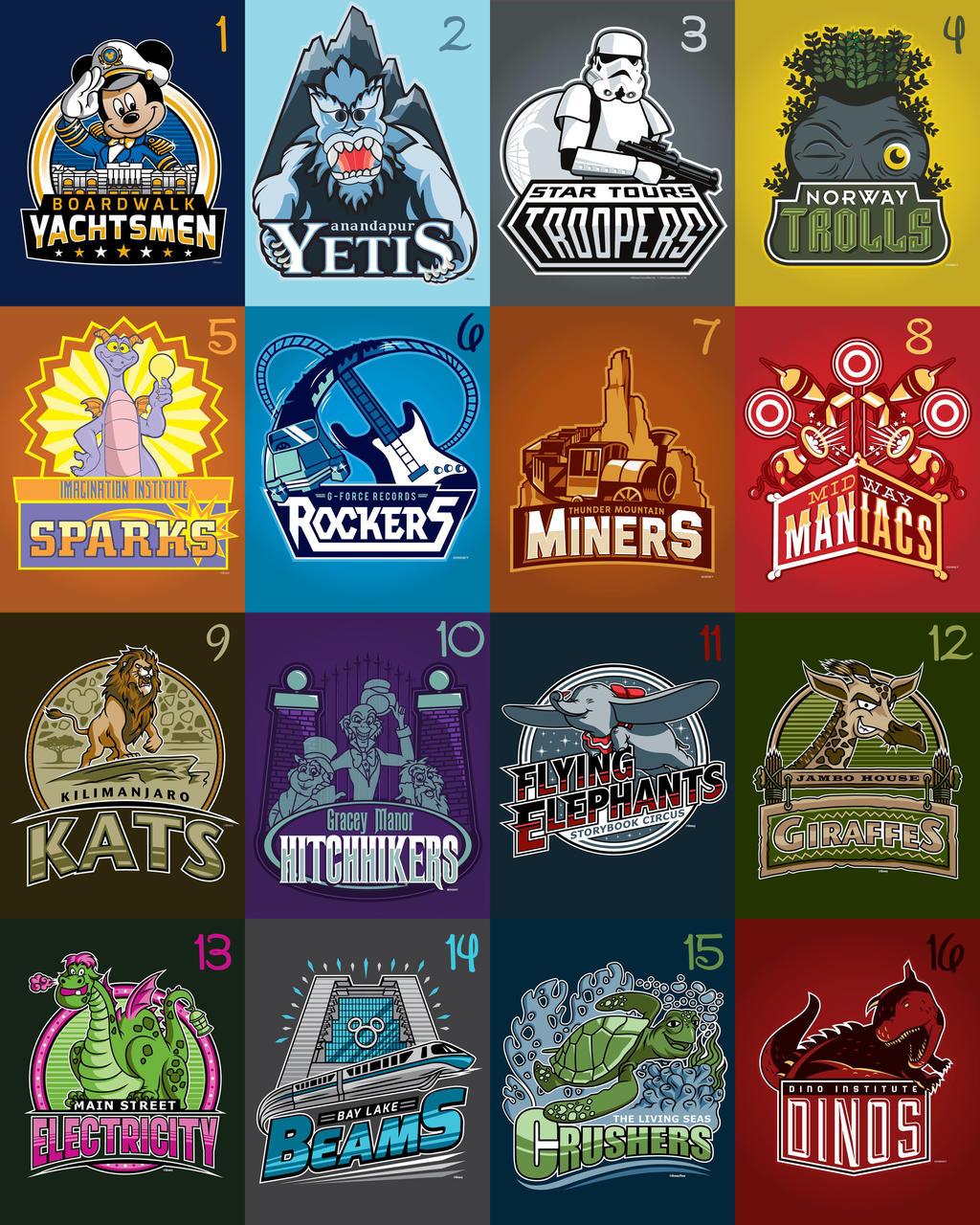 Walt Disney World Sports Teams by Xelku9 on DeviantArt