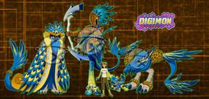 Digimon OC :Shiko and the Mayan/Aztec Bird: