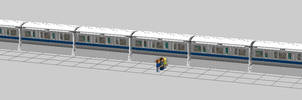 Lego Walt Disney World Monorail by Xelku9