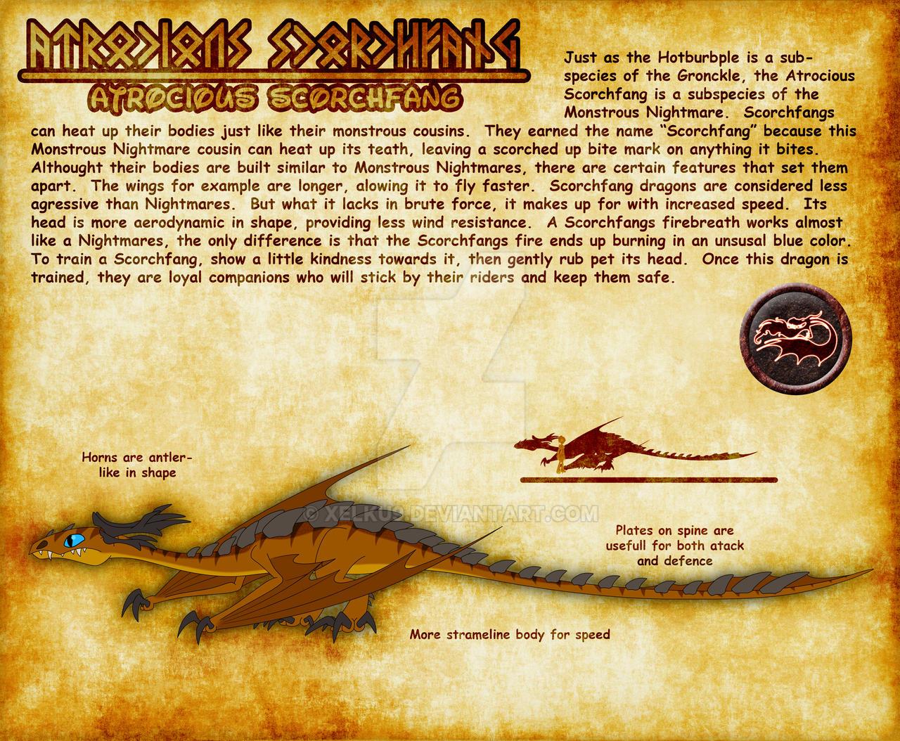 How to train your dragon by xelku9 on deviantart xelku9 31 33 atrocious scorchfang dragon by xelku9 ccuart Image collections