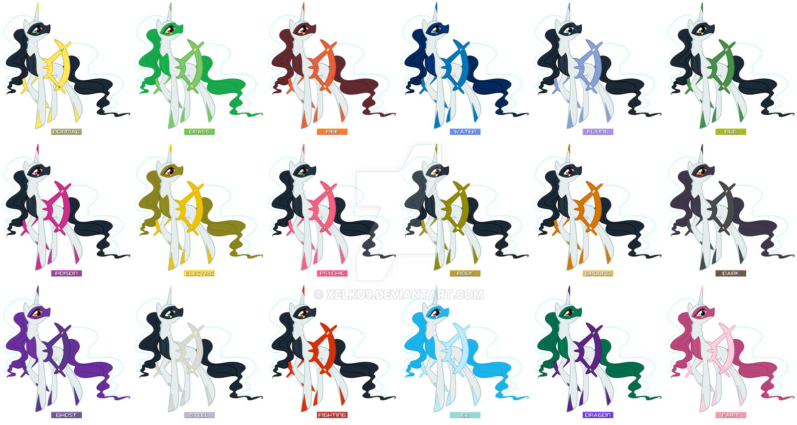 Pony Arceus All Forms By Xelku9 On Deviantart