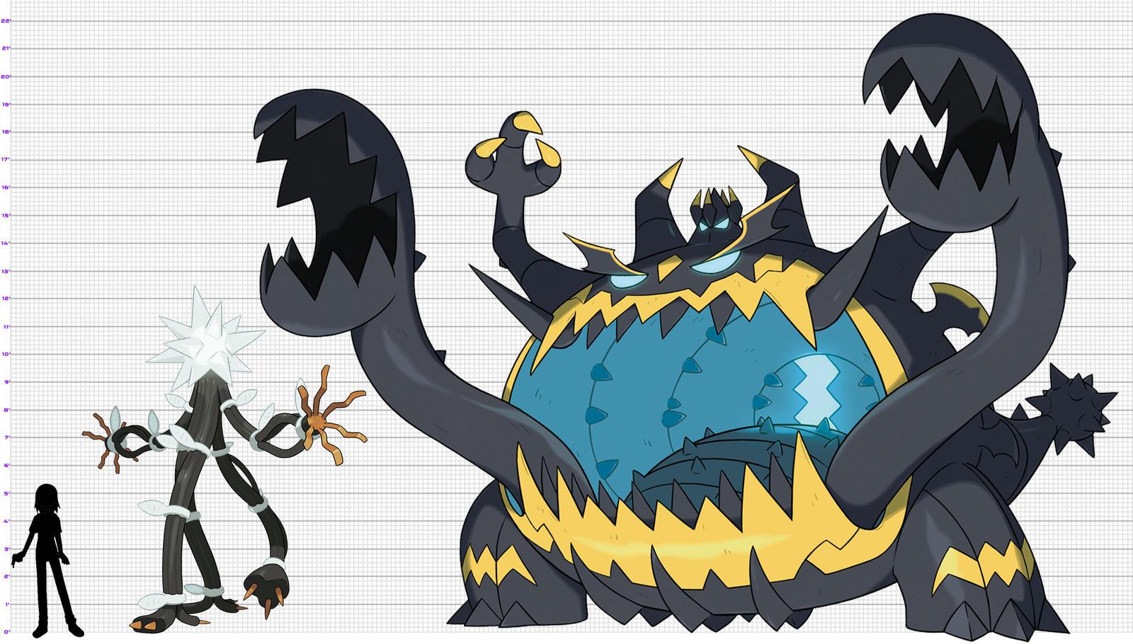 Pokemon Size Chart Ultra Beasts 2 By Xelku9 On Deviantart