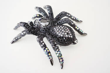 Giant Black Tarantula Brooch 2 by ILOVEEXPERIMENT626