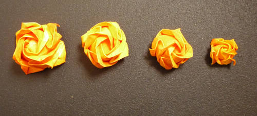 Origami Roses in different sizes
