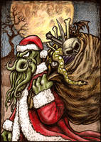 Athey-B Aceo 015 Cthulhu Claus