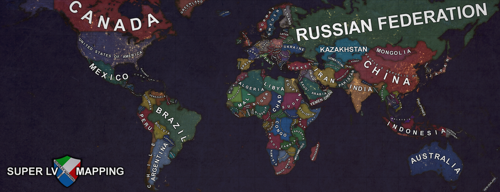 Map Of The World Satellite By SuperLVMapping On DeviantArt - World map 2016 satellite