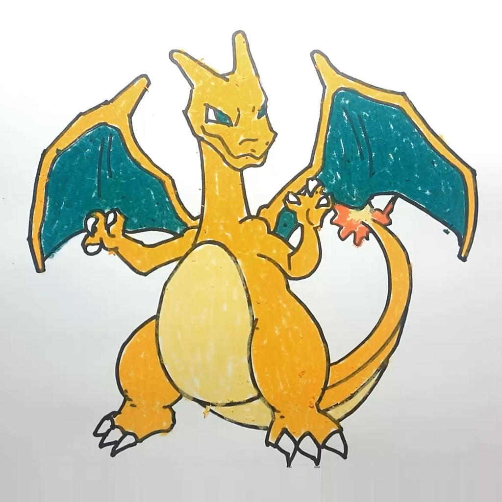 Step By Allforkidschannel How To Draw Charizard Pokemon