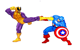 Batroc vs Captain America by alan-san