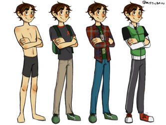 Some outfits (Ender) by Misticdaisy