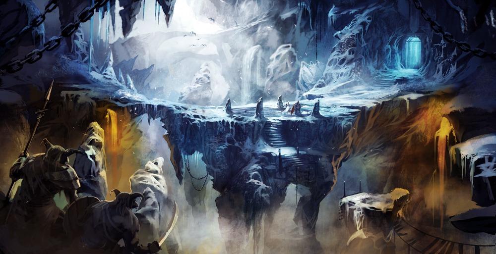 Арты - ассоциации с игрой Frozen_cave_by_artofjokinen-d48euad