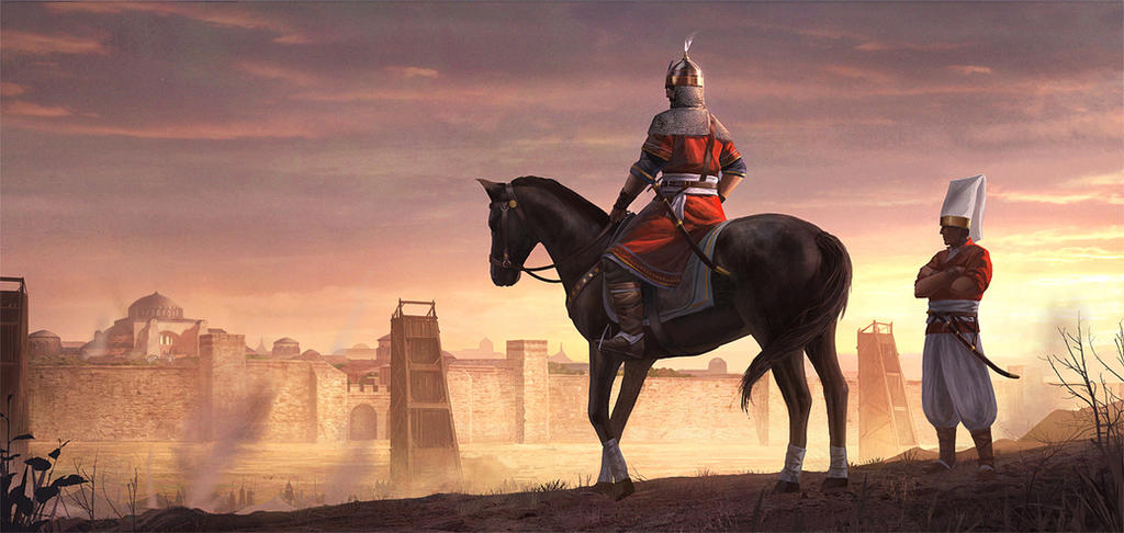 Siege of Constantinople by artofjokinen
