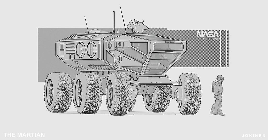 The Martian - Mars Rover by artofjokinen
