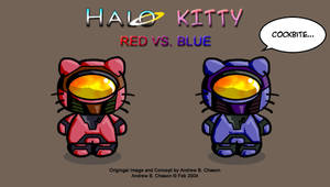 Red VS. Blue Kitty by incomitatum