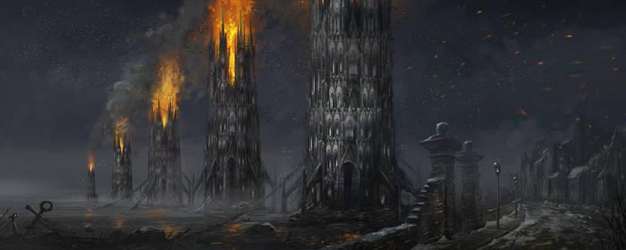 the burning fleet