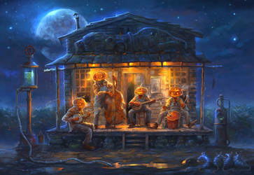 Halloween Blues by sabin-boykinov