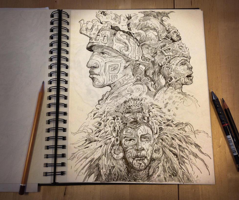 Aztec characters by sabin-boykinov