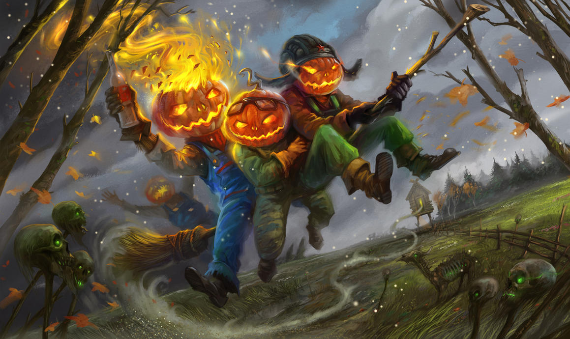Halloween thieves by sabin-boykinov