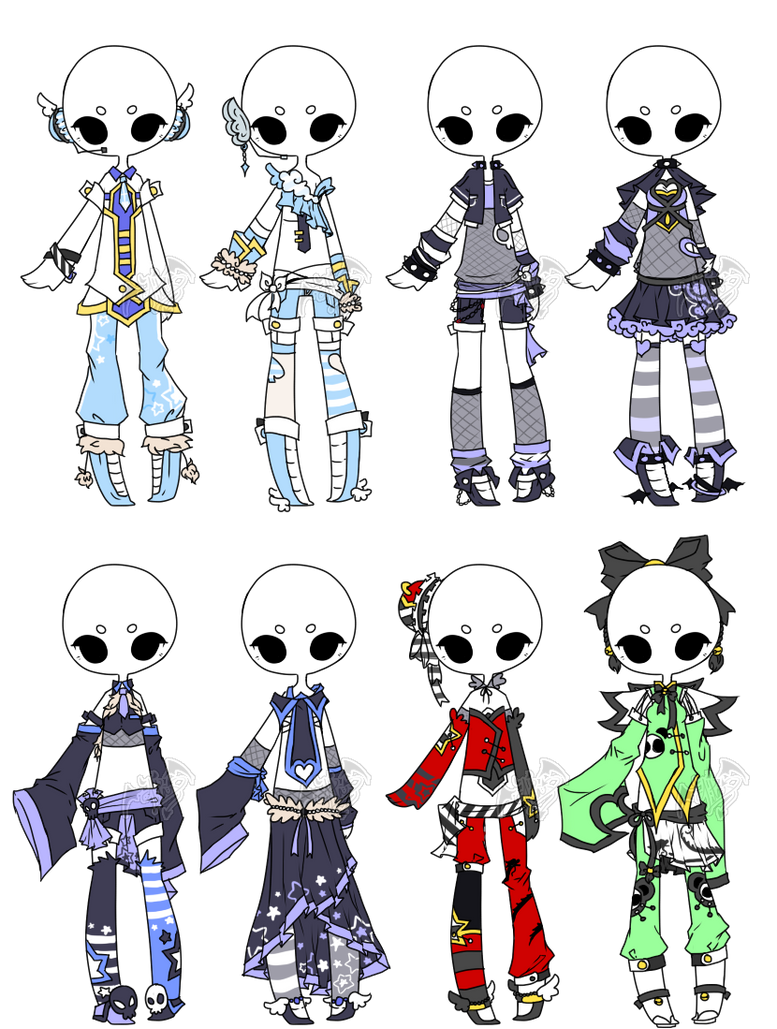 .:Adopted:. Outfit Batch 03 by DevilAdopts on DeviantArt