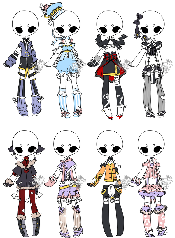 .Adopted. Outfit Batch 04 by DevilAdopts on DeviantArt