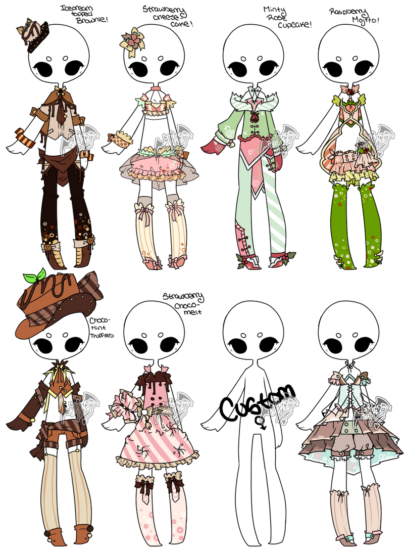 [Adoptable+Offer] Outfit Batch 05 [3/8] by DevilAdopts on DeviantArt