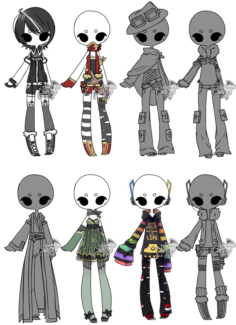 Character Design Clothing Tips : Adoptable mix by deviladopts on deviantart
