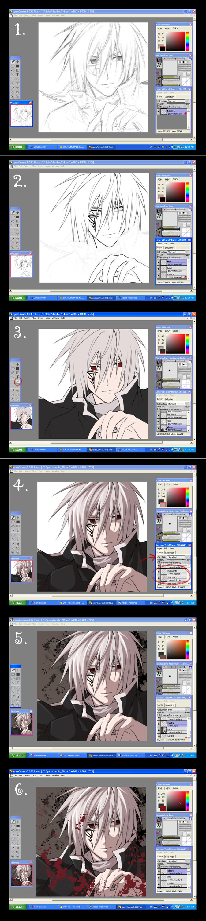 Cel Shading in Open Canvas
