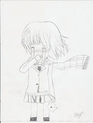 Crying anime girl by u8cookie