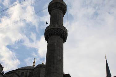 Blue Mosquee Minaret- Istanbul