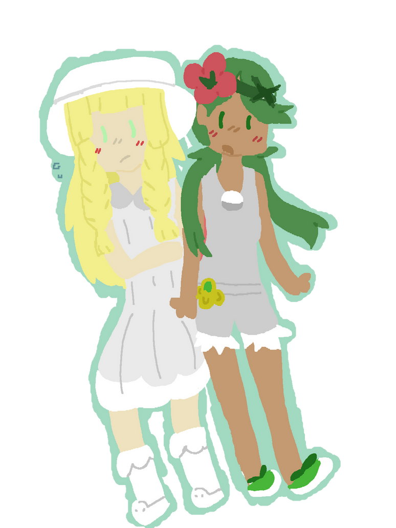 Lillie and Mallow (new) by chupipupi10 on DeviantArt