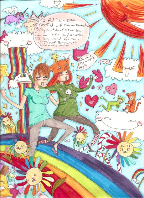 joy in a bucket of ice cream by hotfuzzrules
