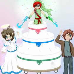 Gift Art - Watergun Cake - Happy Birthday!