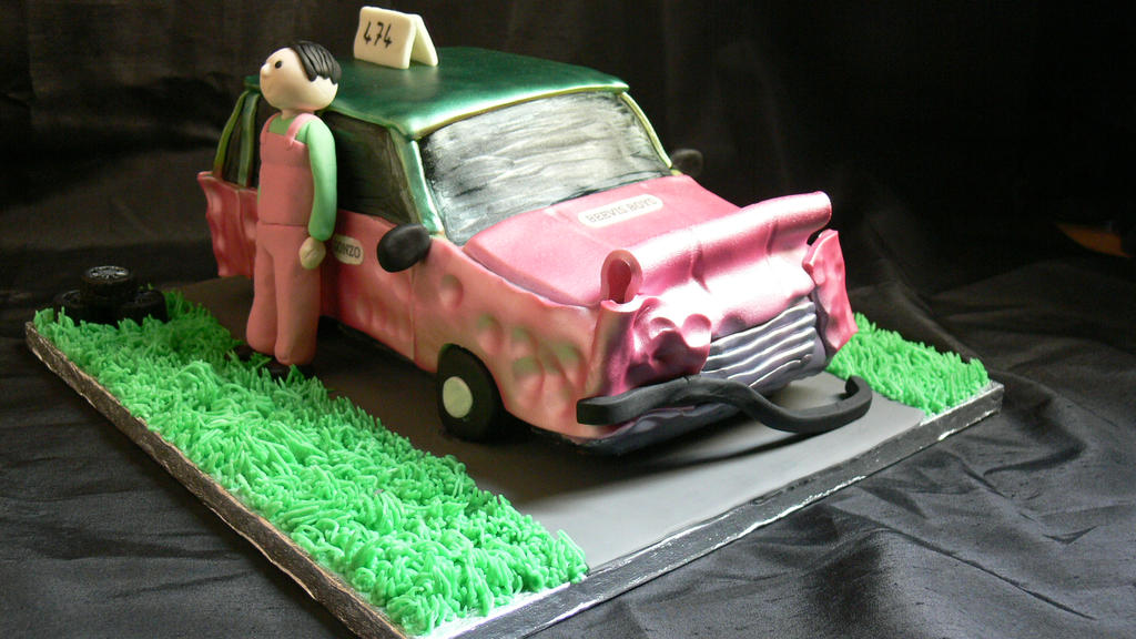 Banger car cake by laylah22 on DeviantArt