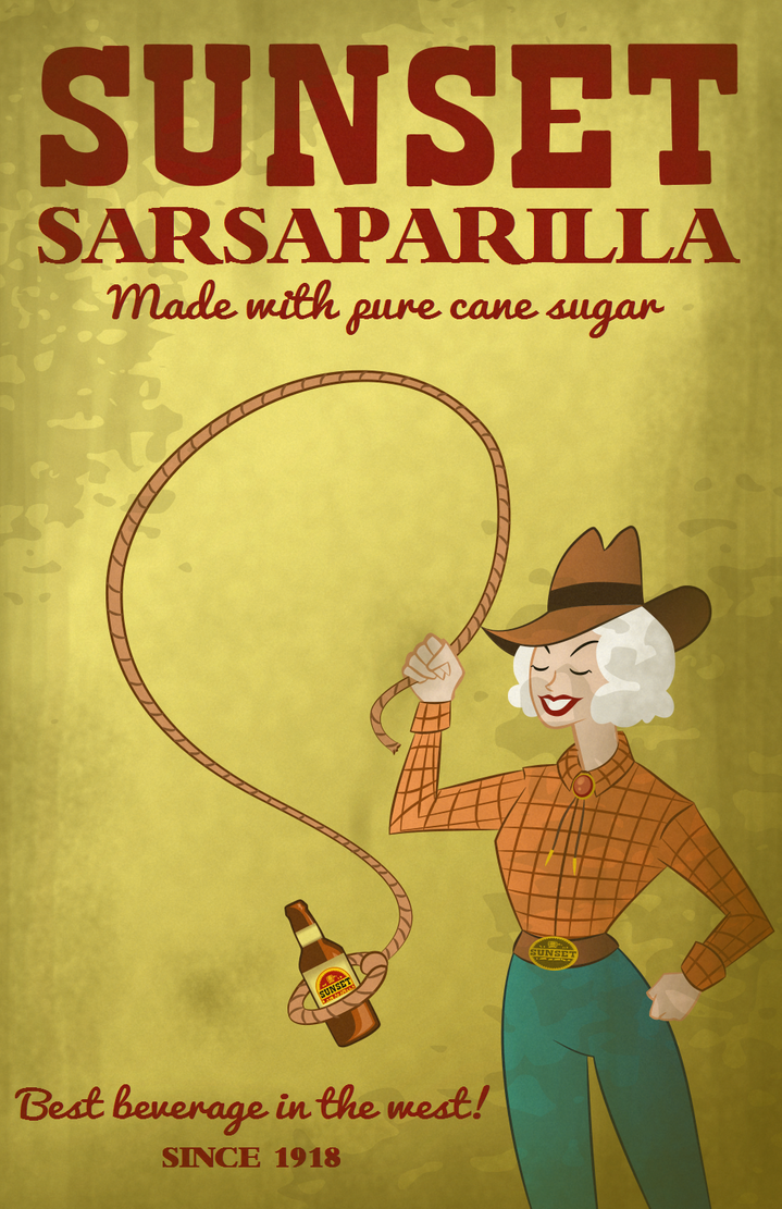 Sunset Sarsaparilla Poster by LaggyCreations