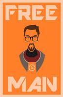 Minimalist Freeman - Half Life by LaggyCreations